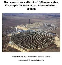 """Descarga nuestro informe: """"Hacia un sistema eléctrico 100% renovable"""""""