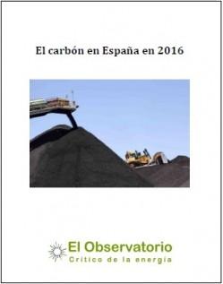 """Descarga nuestro informe: """"El carbón en España en 2016"""""""
